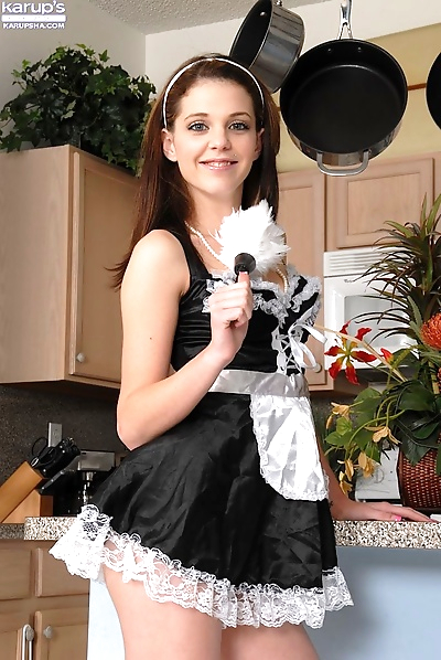 Amazingly lovely young maid..