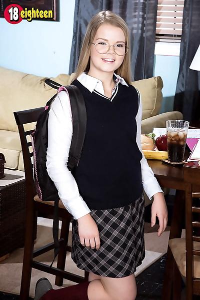Shy schoolgirl lexy fucked..