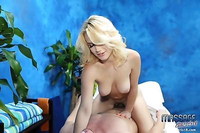 Sexy blonde massage..