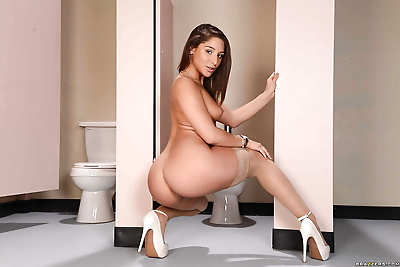 Horny young brunette Abella..