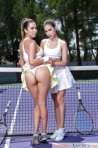 Teen tennis players Melissa..