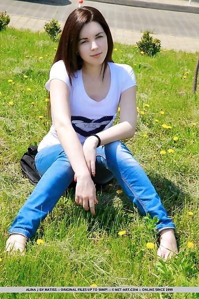 Sexy young babe Alina J..
