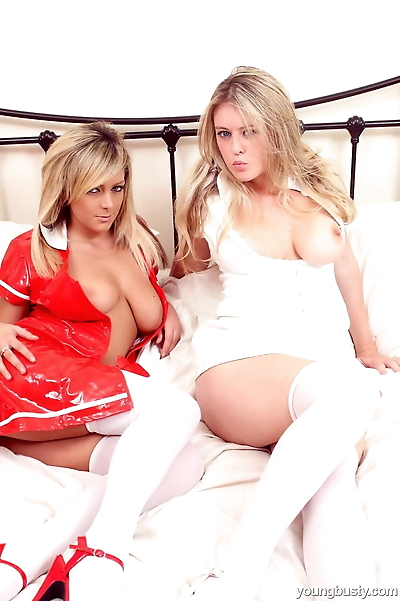 Young blonde nurses grind on..