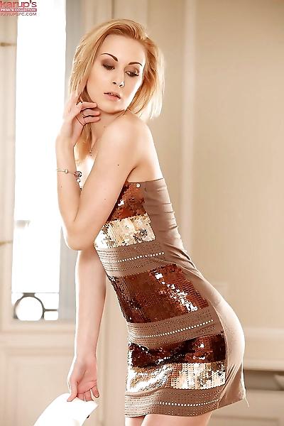 Blonde skinny angel Alice..